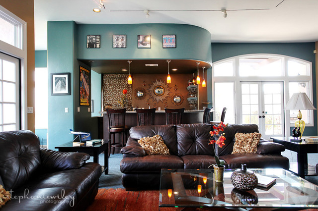 Eclectic & Colorful eclectic family room