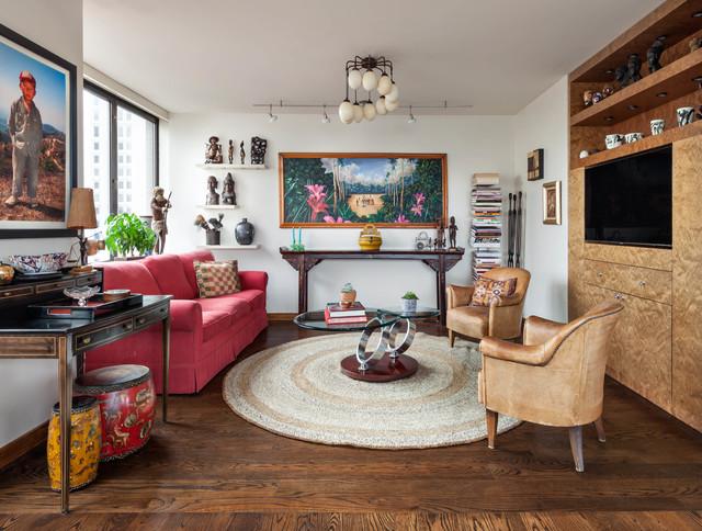 Eclectic Apartment in Manhattan eclectic-family-room & Eclectic Apartment in Manhattan