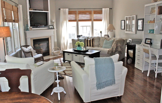 Eclectic family room for All in the family living room