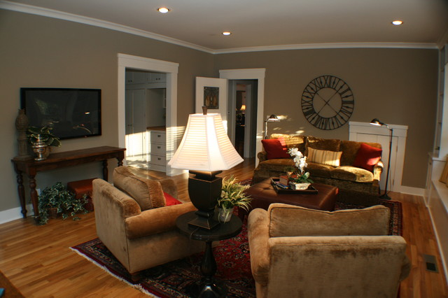 Vintage Family Room eclectic family room