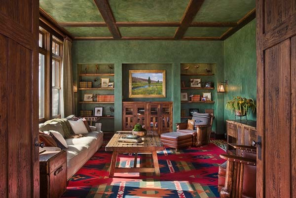 Montana mix eclectic family room