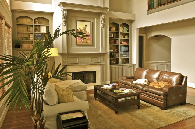 Cozy Bachelor Family Room Eclectic Family Room Atlanta By