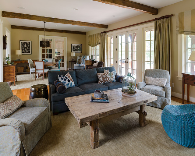 Amazing Great Room Furniture Ideas Part - 1: Eclectic Great Room In Goochland Traditional-family-room