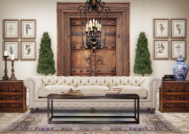 Chesterfield wohnzimmer  Eclectic Living Room Design with Chesterfield Sofa - Eklektisch ...