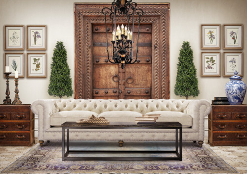Is that couch from restoration hardware for Chesterfield sofa living room ideas