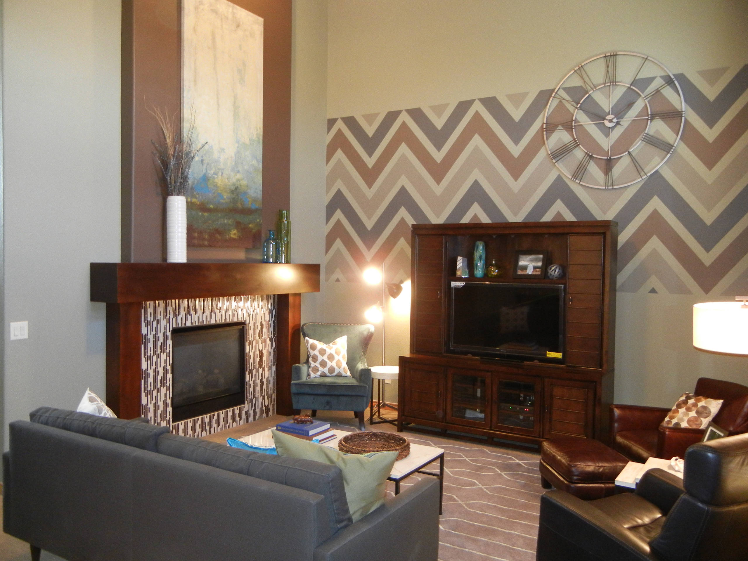 Eclectic Modern Family Room