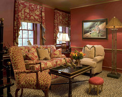 Eclectic Safari Inspired Library eclectic-family-room