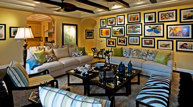 eclectic family room by Grace Home Furnishings