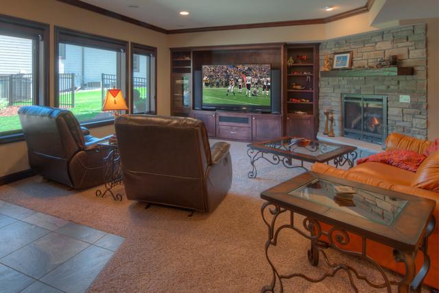 Eden Prairie Mn New Home Traditional Family Room