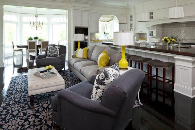 Edina Dream Home Rug--Fall 2011  Room design by Martha O'Hara Interiors eclectic-family-room
