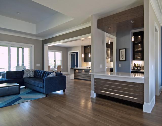 Egan residence contemporary kitchen wet bar design for Modern wet bar designs