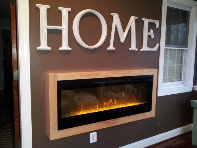 Electric Fireplace eclectic-family-room