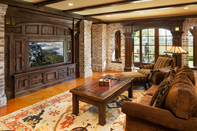 Elegant English Country Home Traditional Family Room