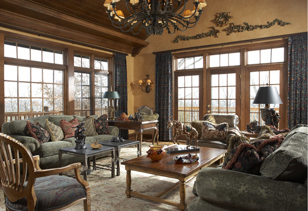 English Manor House In Edina Traditional Family Games Room