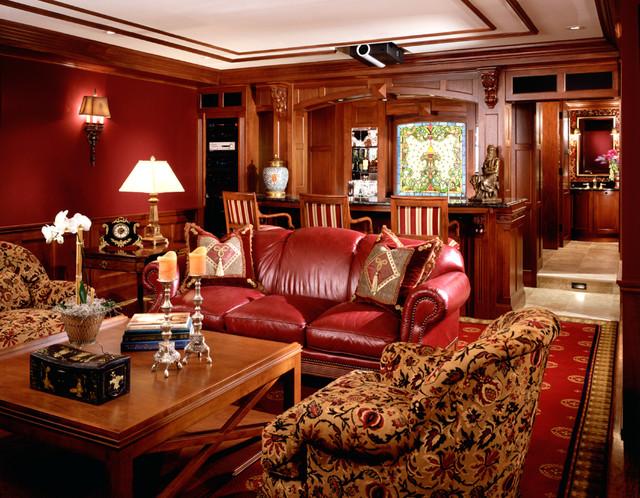 English Pub Family Room Traditional Family Room
