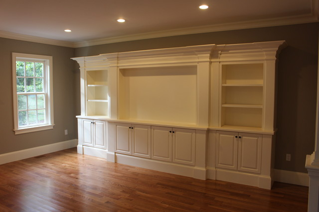 entertainment center traditional family room boston by custom