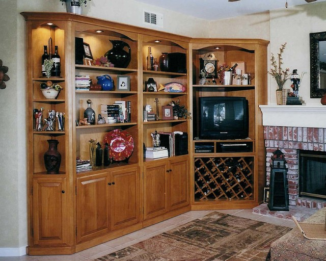 Entertainment Centers Built In Niches Transitional