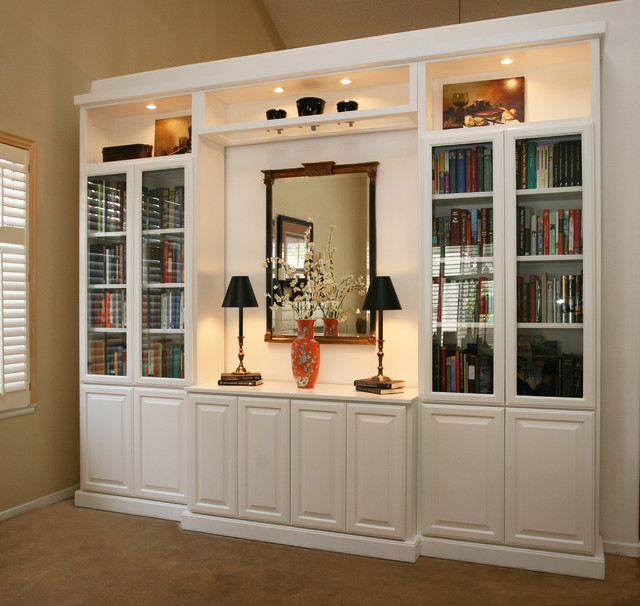 Built In Entertainment Center Design Ideas cool custom made entertainment center for deluxe family room ideas remarkable white custom made entertainment center Entertainment Centers Built In Niches Transitional Family Room