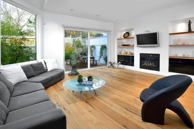 Erskine minimalistisch wohnzimmer toronto von for Minimalistisch wohnen vorher nachher
