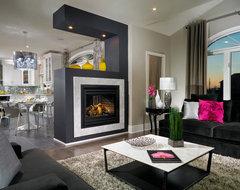Estate Model Home, Brampton contemporary-family-room
