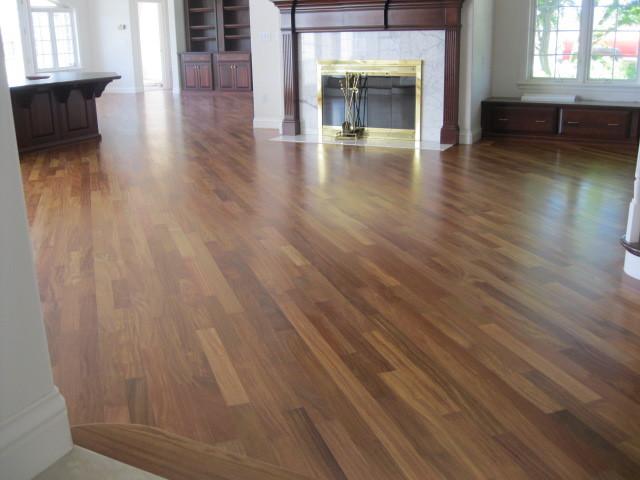 exotic hardwood, sand and finish family-room