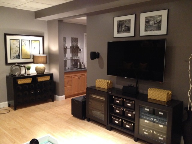 Extreme Basement Makeover Cumming Ga Traditional