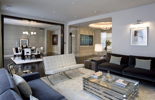 contemporary family room by Fabulous Interior Designs, LLC.