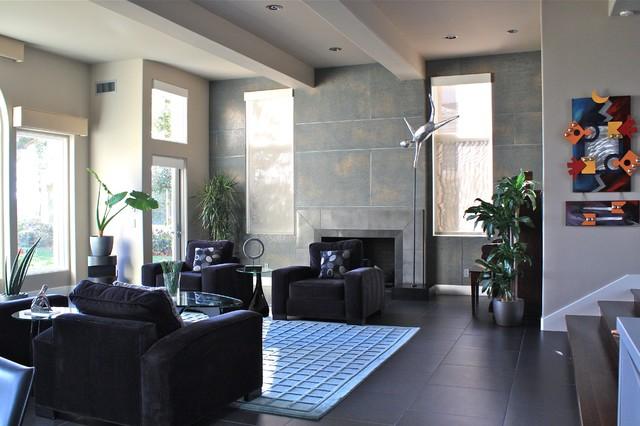Newport Coast Residence Family Room contemporary-family-room