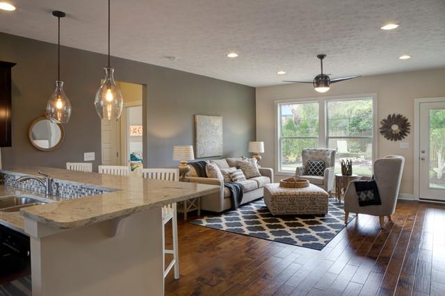Falcon Ridge Estates, Zircon Model Home - Transitional - Family Room ...