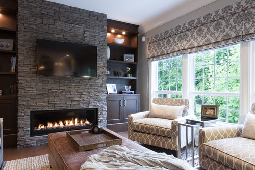 I like the low profile fireplace. Do you know make and model?