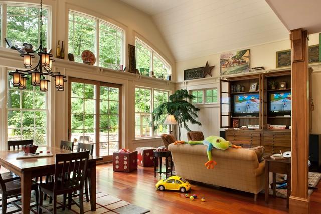 Family Friendly Mountain Retreat contemporary-family-room