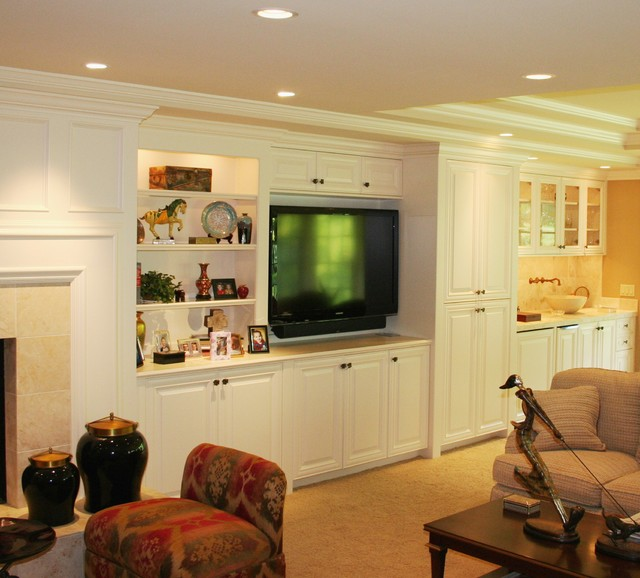 Family room addition traditional family room omaha for Carter wells interior design agency
