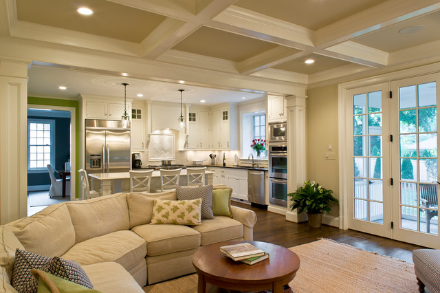 Family room and kitchen traditional family room dc for Decorating ideas for open concept living room and kitchen