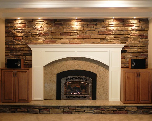Family Rooms With Red Brick Fireplace