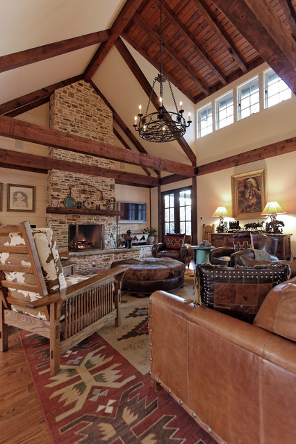 Family Room rustic-family-room