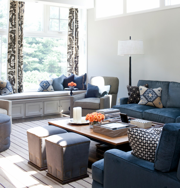 Family Room Transitional Baltimore By