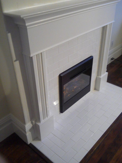Family room finished fireplace traditional-family-room