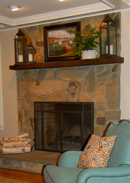 Family Room Fireplace traditional-family-room