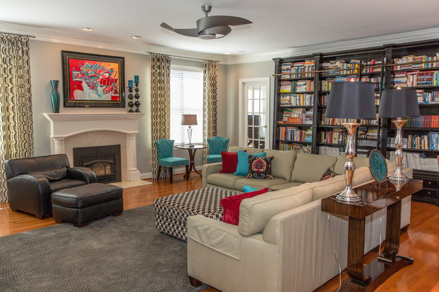Family Room Transitional Dc Metro By JampL Interiors