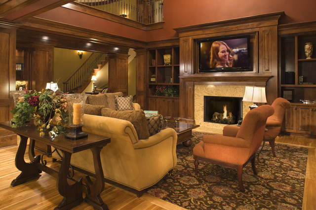 Family Room Beach Style Family Room Minneapolis By