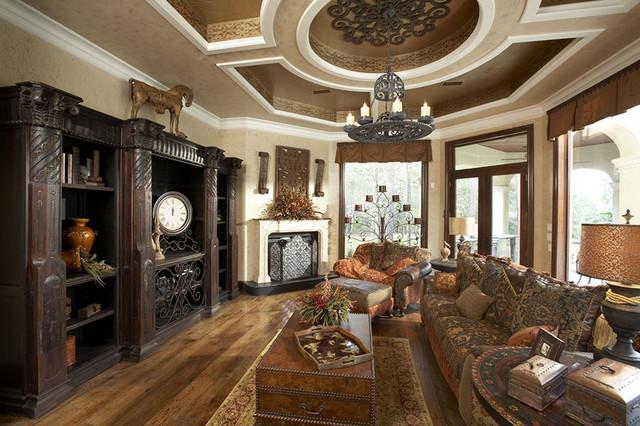 Family Room mediterranean-family-room