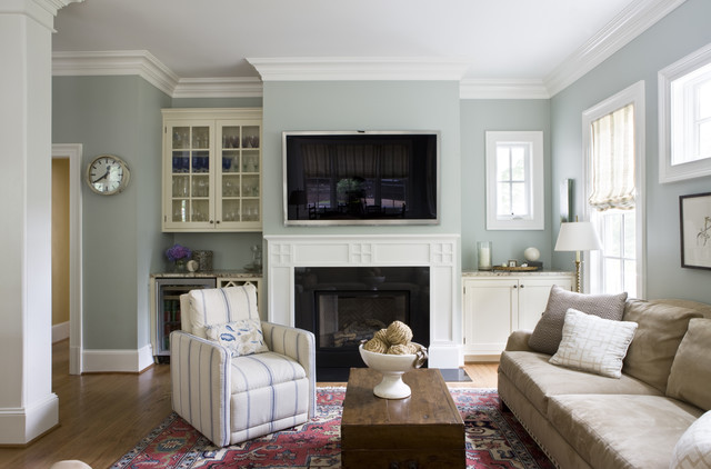 Family Room - Traditional - Family Room - DC Metro - by Lily Mae Design