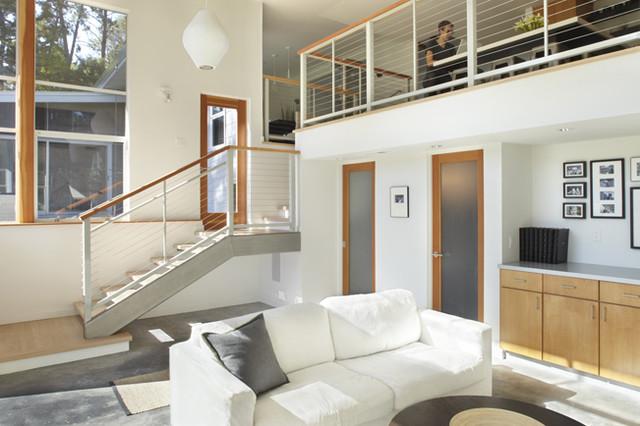 Family room loft modern family room san francisco - Loft and roomers ...