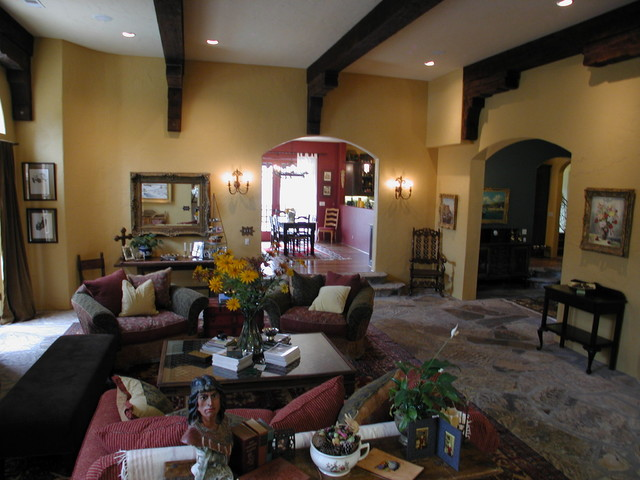 Family Room mediterranean family room