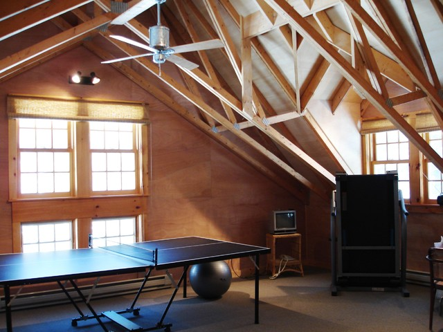 Inspiration For A Rustic Game Room Remodel In New York