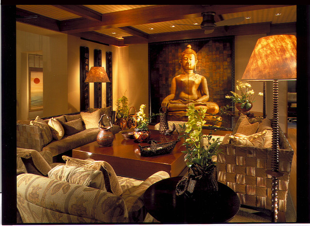 family room asian family room hawaii by saint dizier design. Black Bedroom Furniture Sets. Home Design Ideas