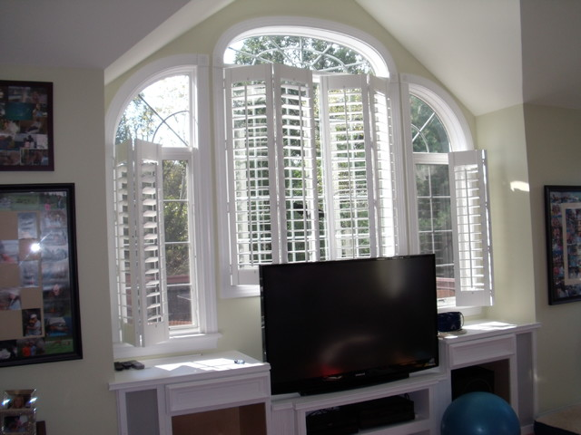 Family Room Shutters traditional-family-room