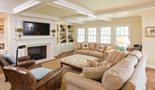 traditional family room design by louisville design-build Michael Cadden . Promaster Design+BuildFamily Room traditional family room