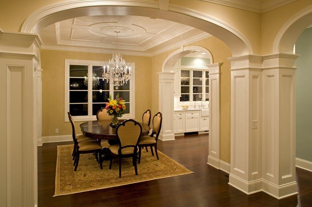 Family room traditional family room minneapolis by for Pictures of columns in living room