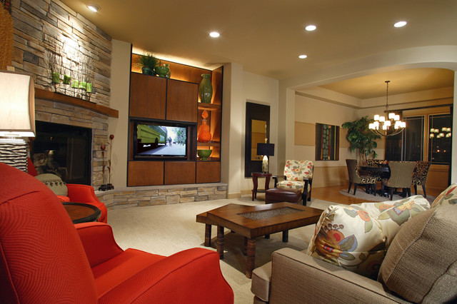 Family room eclectic family room omaha by the for Architecture firms omaha ne